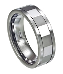Men's Mirrored Tungsten Spinner Ring - JTG0070