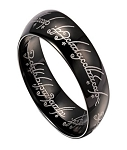 Lord of the Rings Black Tungsten Band with Elvish Script | 8mm