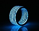Glow in The Dark Aurora Blue Carbon Fiber Ring