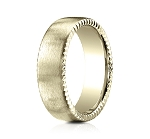 Men's Designer 14K Yellow Gold Wedding Ring, Rivet Edges | 4.5mm