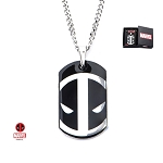 Deadpool Dog Tag Pendant with Chain Engraved with