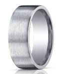 Designer 10 mm Satin Finish Argentium Silver Wedding Band - JBS1003