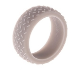 9mm High Performance Grey Diamond Plate Silicone Wedding Band