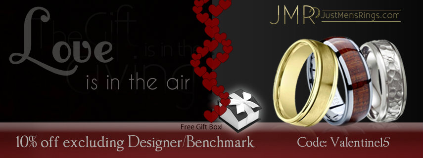 Love is in the air this Valentine's day at Justmensrings.com! Get 10% Off!