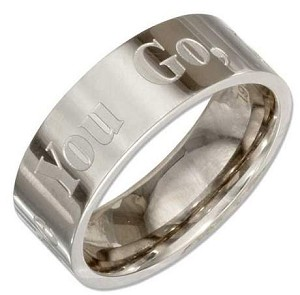 "Stainless Steel 5mm or 8mm ""Where You Go I Will Go"" Engraved Band"