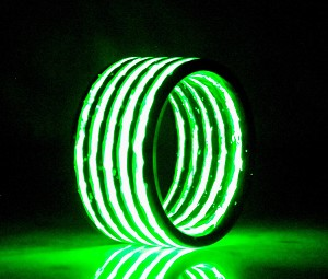 Glow in The Dark Aurora Green Carbon Fiber Ring