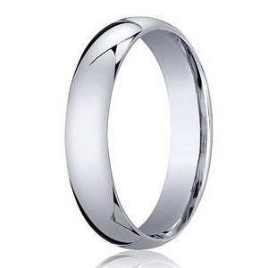 palladium wedding band with domed profile and polished finish 4mm jb1163 - Mens Platinum Wedding Rings