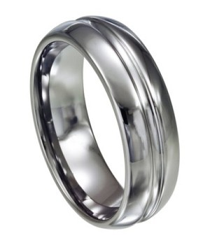 Tungsten Ring with Groove - Tungsten Carbide - JTG0007