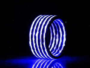 Glow in The Dark Aurora Purple Carbon Fiber Ring