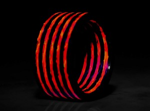 Red Carbon Fiber Glow-In-The-Dark Ring