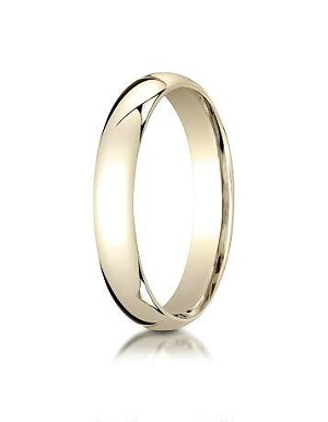 14K Yellow Gold 4mm Slightly Domed Super Light Comfort-Fit Ring