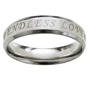 "Stainless Steel ""Endless Love"" Ring - JSS0049"