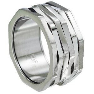 Stainless Steel 6 Band Spinner Ring - JSS0611