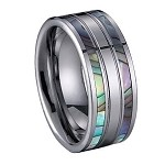 Tungsten Ring with Shell Inlay - JTG0034