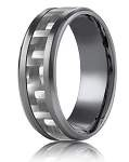 Tantalum 8mm Carbon Fiber Design Ring