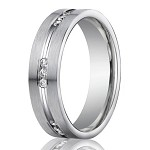 Designer 950 Platinum Channel Set Diamond Men's Wedding Ring | 6mm