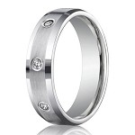 Designer 950 Platinum Bezel Set Diamond Men's Wedding Ring | 6mm
