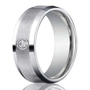 6mm Men S 950 Platinum Single Diamond Wedding Ring
