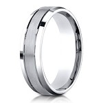 Designer Palladium Men's Ring With Polished Beveled Edges | 6mm