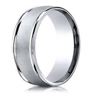 Designer Palladium Men's Wedding Ring With Wired Finish | 6mm