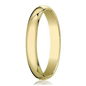 Designer 4 mm Traditional Domed Polished Finish 10K Yellow Gold Wedding Band - JB1083