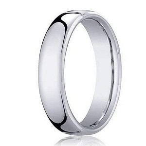 Heavy Comfort Fit Men's Designer Wedding Ring in 18K White Gold | 3.5mm