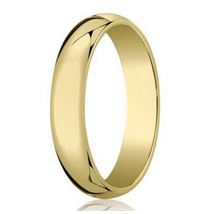 Men's Designer Wedding Ring in 18K Yellow Gold, Polished Dome | 5mm