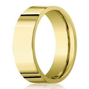 6mm Men's 14k Polished Finish Yellow Gold Wedding Band