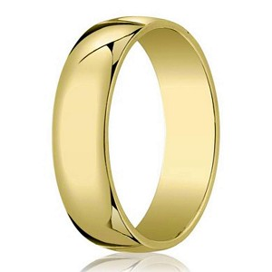 Designer Men's Wedding Ring in 14K Yellow Gold, Traditional Fit | 5mm