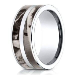 Designer Men's Cobalt Chrome Camo Ring, Realtree Bands | 10mm