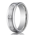 Designer Diamond Eternity Wedding Ring for Men in White Gold | 6mm