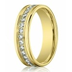 Channel Set Diamond Eternity Ring for Men in 14K Yellow Gold | 4mm