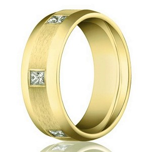 Diamond Eternity Wedding Band for Men in 14K Yellow Gold | 6mm