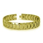 Gold Tone Men's Tungsten Bracelet With High Polished Finish