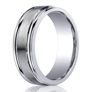 Designer Argentium Silver Men's Ring With Rounded Edges | 5mm