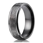 Men's Benchmark Titanium Ring with Cathedral Crosses | 9mm - JBT1001