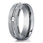Men's Benchmark Titanium Ring with Polished Grooves & Screws | 8mm - JBT1013