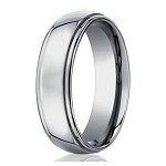 Men's Benchmark Titanium Wedding Band with Step-Down Edges | 7mm - JBT1017