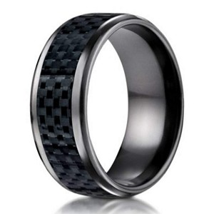 Benchmark Black Anium Wedding Ring With Carbon Fiber Inlay 8mm