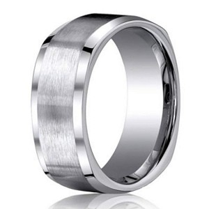 Benchmark Satin Finish Titanium Four Sided Men's Wedding Ring | 9mm