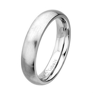 Men's Cobalt Chrome Wedding Ring with Brushed and Polished | 5mm