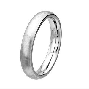Men's Cobalt Chrome Wedding Ring with Brushed and Polished  | 4mm