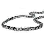 "Box Link 24"" or 30"" Stainless Steel Chain for Men - JN1016"