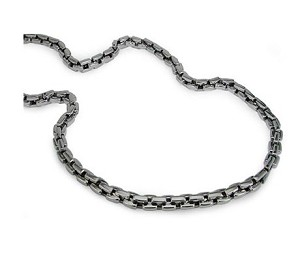 Stainless Steel Men's Necklace With High Polished Chain