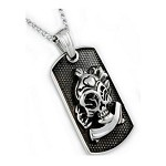Men's Stainless Steel Pendant With Polished Skull Design