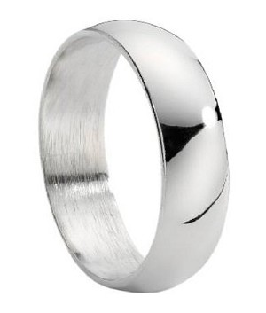 Traditional Stainless Steel Wedding Ring - JSS0057