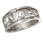 Sterling Silver Braided Claddagh Ring - JP1465