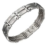 Stainless Steel Double Row Bar Bracelet - JPBR2964