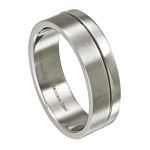 Polished and Brushed Finish Stainless Steel Ring for Men | 8mm