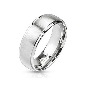 Stainless Steel Brushed Finish Wedding Band - JSS0010